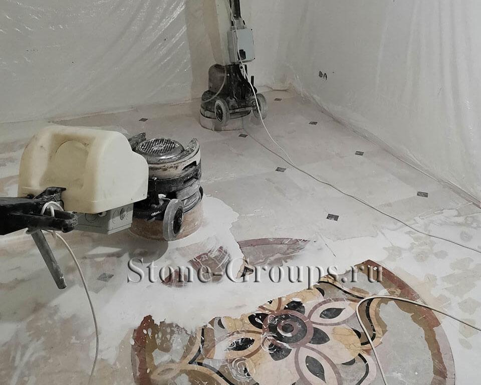 Шлифовка полировка мрамора и панно