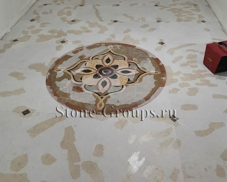 Ремонт трещины на камне