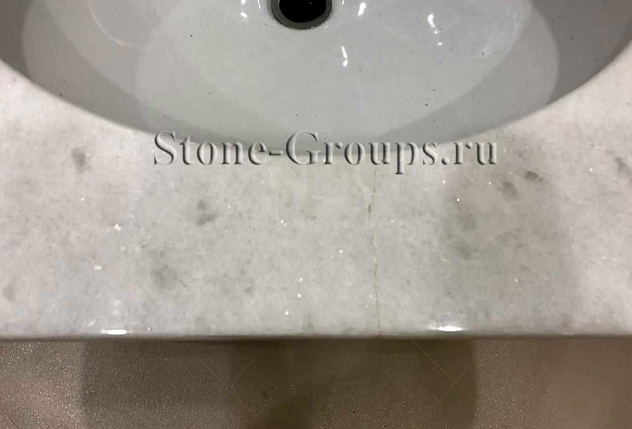 полировка и реставрация раковины из камня