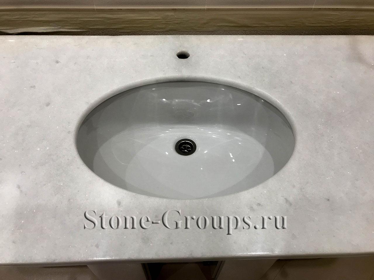 ремонт раковины из камня